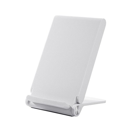 Wokee 3-Coils laden Qi Wireless Ladestation Dock für iPhone 8/8 Plus X Schnellladung für Samsung Galaxy Note8/S8 (Weiß) (Nimh-wireless-handy)