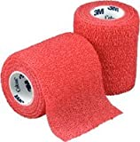 "Coban Self-Adherent Wrap, Red, 3"" X 5 Yard Roll"
