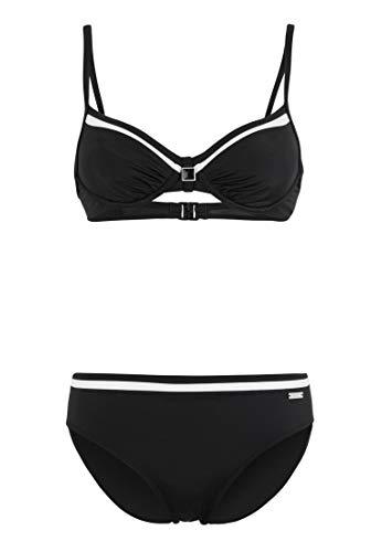 Lascana Bügel-Bikini mit Kontrastdetails schwarz 42 (85) B