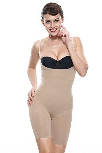 Franato Damen Shapewear Formend Body Formender Bodysuit Nude ()