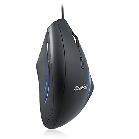 Perixx PERIMICE-508 Vertical Ergonomic Mouse - 5 Programmable Button - 1000/1600 DPI - Natural Ergonomic Vertical Right Handed Design