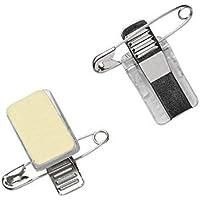 Porte-badge avec pince crocodile auto-adhésive et épingle (lot de 50) | Clip Combi | Pince et épinglettes horizontales…