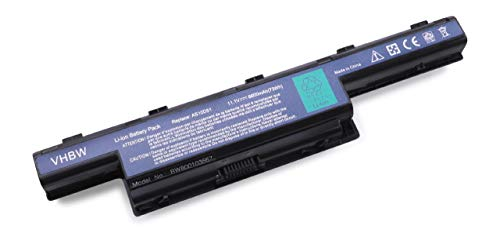 vhbw Akku für Packard Bell EasyNote TM87, TM89, TM94, TM98, TS11-HR Notebook Laptop wie AS10D31, 31CR19/652, BT.00603.11 - (Li-Ion, 6600mAh, 11.1V)
