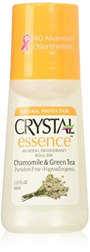 Kristall-Deo 64ml Essence Roll-On Stück Kamille/grün Tee (3Pack) -