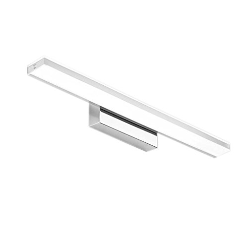 LIGHT YEARS Spiegel-Scheinwerfer Im Europäischen Stil Badezimmer-Edelstahl-LED, Moderne Wasserdichte Anti-Nebel Verfassungs-Wand-Lampe (Farbe : Weißes Licht, Größe : 14W/62cm)