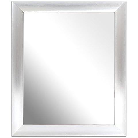 Inov 8 MFA PSR-108 marco de vidrio Espejo tradicional, 25 x 20 cm, paquete de 4, cucharada de plata
