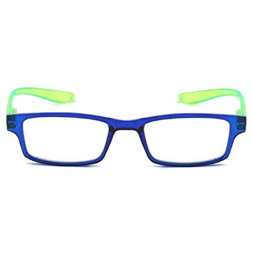 Inlefen Unisex Lesebrille Mode ultraleichte komfortable prägnante Qualität Full-Frame-Federscharnier beliebte klare Sicht natürliche dünne hochwertige haltbare starke Männer und Frauen Retro-Brille