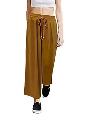 Donna Pantaloni Larghi Di Vita Alta Pantaloni A Palazzo Moda Casual Eleganti Estive Pantalone Taglie Forti