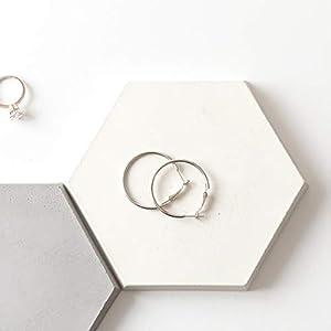 Atelier Ideco – Hexagon Beton, Schmuck-Display, Dekorative Geometrische Schale, Geschenk Für Sie