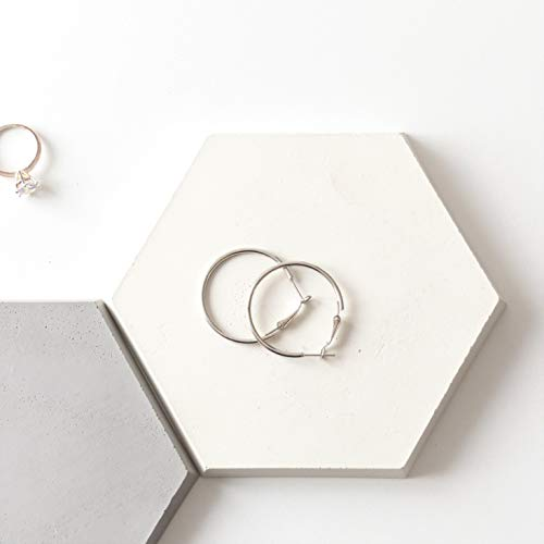 Konkretes Sechseck, Schmuckanzeige, Dekorativer Geometrischer Teller, Geschenk Für Sie