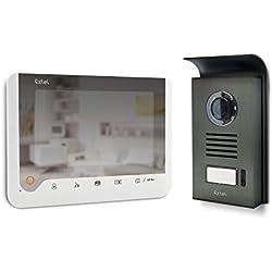 Extel ICE Visiophone 2 fils à mémoire de passage et effet miroir Blanc
