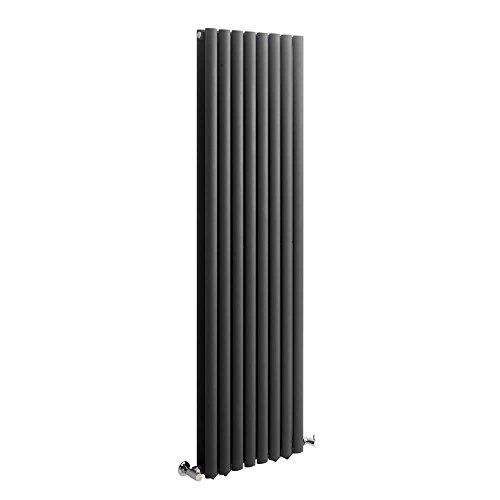 Milano Hudson Reed Vitality - Radiateur Design Vertical - Anthracite - 160 x 47,2cm Double Rang