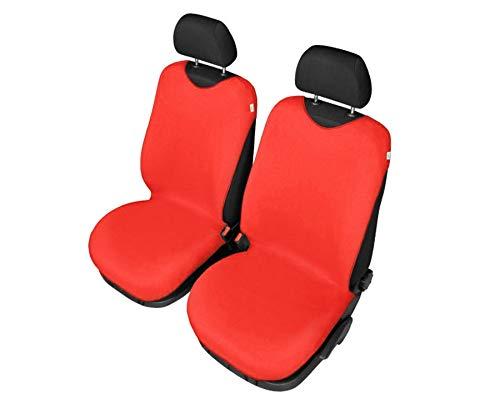 Set di 2 coprisedili universali in cotone rosso compatibili con Opel Adam