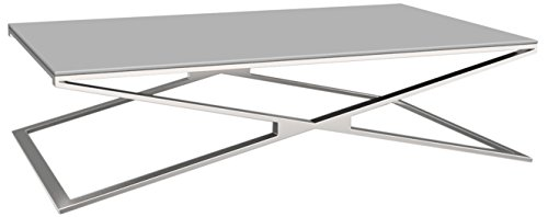 MERCURY Fabrizio Table Basse Verre, 130 x 80 x 34 cm