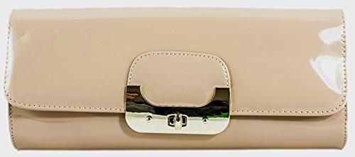 Girly HandBags Lack Leder Übergroße Handtasche Schalten Twist Mode Designer Farben Sommer Farben (Handtasche Übergroße)