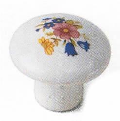 Laurey 144213/8Porzellan Knauf, Bouquet Design - Zeitgenössische Porzellan-knöpfe