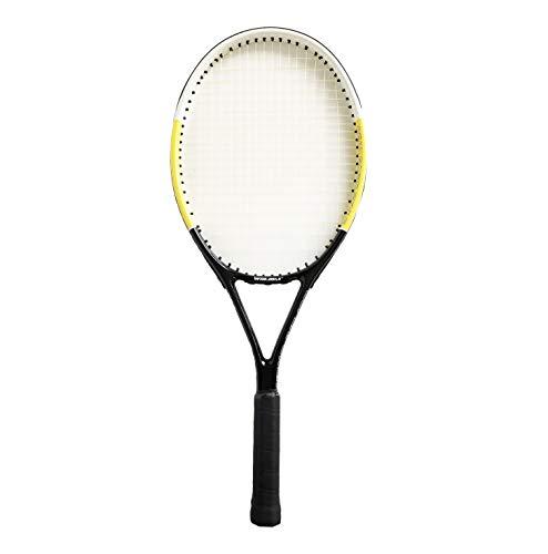 Rayline Sport Serie - Tennis Schläger TR002 für Erwachsene (Farbe: Schwarz/Gelb), 27 - Tennisschläger Set Erwachsene