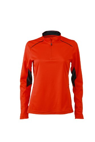 JAMES & NICHOLSON Ladies Running Shirt - T-shirt de Maternité - Femme Rouge (Grenadine/Iron Grey)