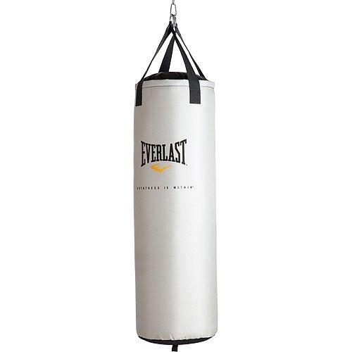 Everlast Platinum - Saco boxeo unisex (1,2 m), blanco
