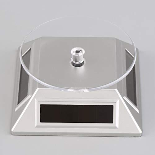 Base-uhr Stehen (Prima05Sally Solarbetriebene 360   rotierenden Schmuck Handy Ring Armband Uhr Display Stehen umweltfreundlich)