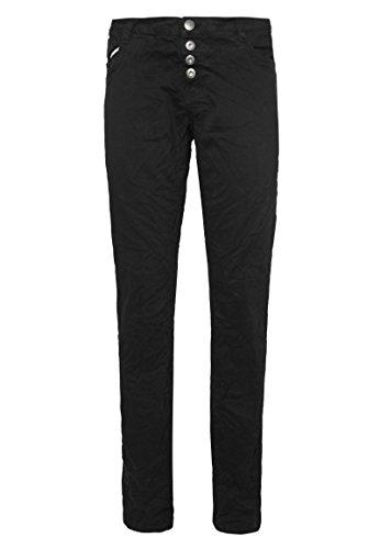 Urban Surface Damen Stoffhose   Leichte Slim Fit Twill-Hose mit Ziernaht im 5-Cluster Design black L