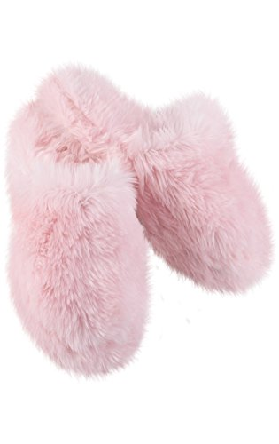 PajamaGram Fuzzy Wuzzies - Zapatillas para mujer - Rosa - M