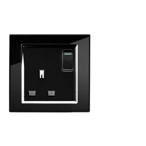 retrotouch-crystal-13a-1-gang-dp-switched-plug-socket-black-glass-with-chrome-trim