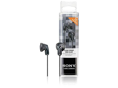 Sony MDR-E9LP In-Ear / In-Ohr Kopfhörer (1,2m Kabel, Neodym-Magnet, für MP3-Player, Walkman, iPod) schwarz - Walkman-mp3-ohrhörer