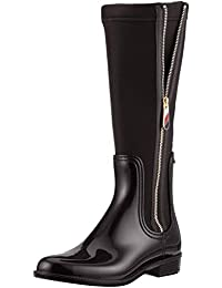 4413788a2663 Tommy Hilfiger Damen Material Mix Long Rain Boot Hohe Stiefel