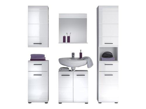 Trendteam Waschbeckenunterschrank, Weiß Hochglanz – 60x56x31 cm - 2