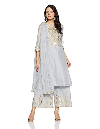 BIBA Women's Straight Salwar Suit Set (SKD5538_Sky Blue_34)