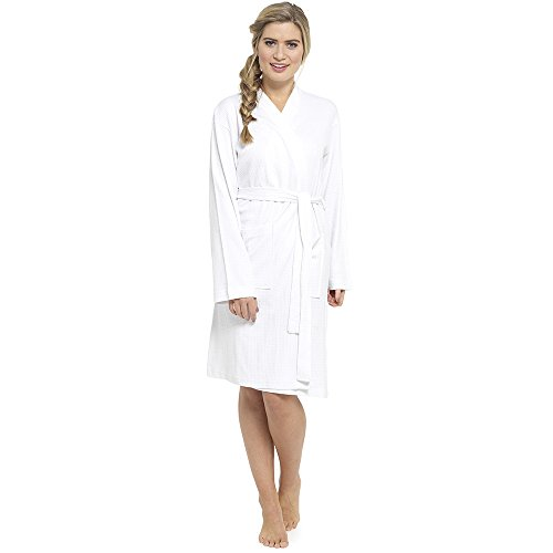 citycomfort pure cotton dressing gown women waffle kimono lightweight ladies robe - creates a relaxed and confortable hotel spa feel - size 8-10 , 12-14 , 16-18 , 20-22 - 317LHleXm2L - CityComfort Pure Cotton Dressing Gown Women Waffle Kimono Lightweight Ladies Robe – Creates a relaxed and confortable hotel spa feel – Size 8-10 , 12-14 , 16-18 , 20-22