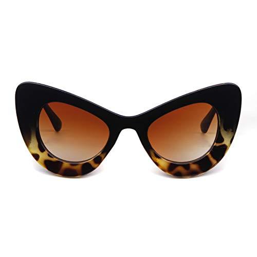 ZRTYJ Sonnenbrille Peak Cat Eye Sonnenbrille Frauen Markendesigner 90S Vintage dicken weißen Rahmen Cateye Lady Sonnenbrille Shades