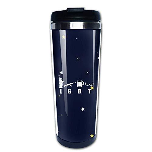 ny America LGBT Travel Coffee Mug Cup Water Bottles 13.5 Oz ()