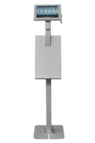 TabletStation Prospekthalter (1xDIN A4), silbergrau, Zubehör für TabletStation Bodenständer