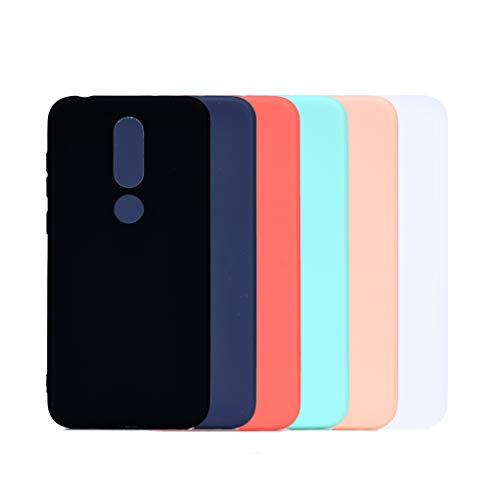 6 Couleurs Coque Nokia 5.1 Plus, Yunbaozi Protective Case Housse Caoutchouc Étui en Silicone Protecteur Gelée Bonbons Lisse Flexible Svelte Coque pour Nokia 5.1 Plus, Noir Bleu Rouge Vert Rose Blanc