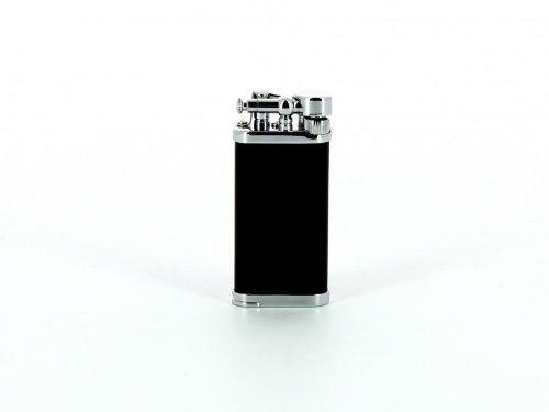 IM Corona Pfeifen Feuerzeug Old Boy chrom/schwarz mit Stopfer