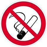 Aufkleber Rauchen verboten gemäß ASR A1.3/ BGV A8 20 cm Ø Folie selbstklebend (Rauchverbot, Verbotszeichen) wetterfest
