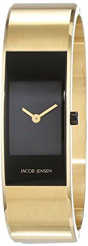 Jacob Jensen Damen-Armbanduhr Analog Quarz Edelstahl beschichtet 32454