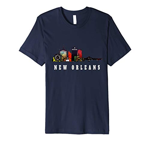 New Orleans Louisiana Watercolor T-Shirt