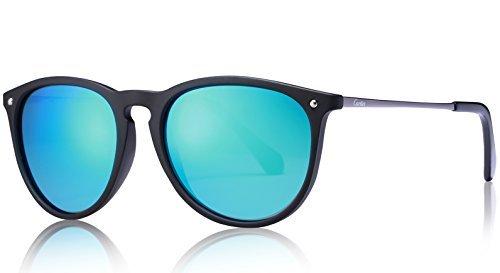 Carfia Vintage Polarisierte Damen Sonnenbrille Herren Sonnenbrille Fahrer Brille 100% UV400 Schutz für Autofahren Reisen Golf Party und Freizeit - Ultraleicht Rahmen