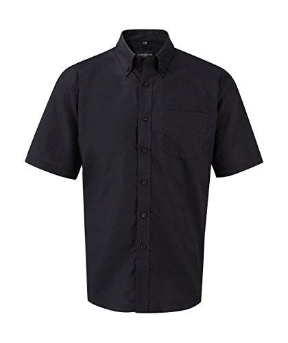 Z933 Kurzärmeliges Oxford Hemd Oberhemd Herrenhemd 3XL / 47/48,Black