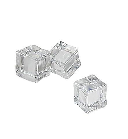 Forme carrée Transparent Lot de 15artificiel cristal acrylique Glaçons Parti Faux glaçons pour photographie de mariage Home Decor