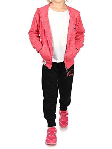 BEZLIT Kinder Mädchen Sweat-Jacke Sport-Anzug Jogger Sweat-Hose Freizei-Hose (2 TLG. Set) 30020 Rosa (Regen Anzug Kostüm)
