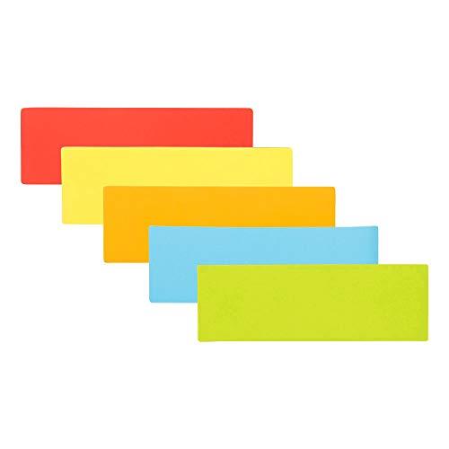 5 Balken Magnete Wiederbeschreibbar 7,5 x 2,5 cm für Magnettafeln, Kühlschränke, Plantafeln und Whiteboards - Auch für Agile, Scrum, Kanban oder Lean. (Mix (5 Farben))
