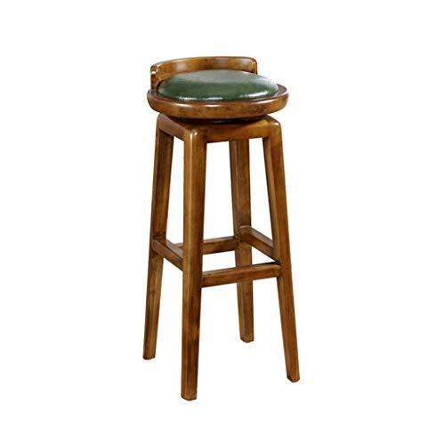 ZD DZ Banc en Bois, Chaise de Bar pivotant dans Un Style Classique avec Une Hauteur de 81cm (Couleur : A) ZD