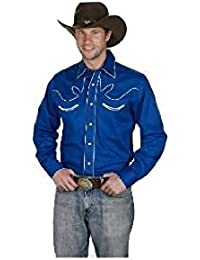 Western Express - Chemise country LineDance USA - Bleu royal - Homme - Taille XXL - 890-ROYAL
