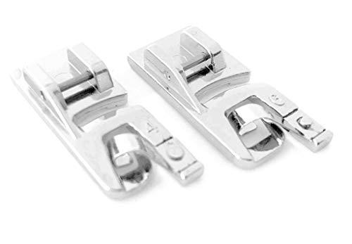 Rollsaumfuß Nähfuß (Doppelpack) 4mm+6mm für Carina Nähmaschinen Professional, Junior, Easy, Classic