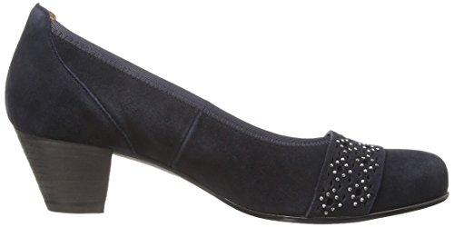 Gabor - Scarpe col tacco, Donna Blu (Bleu (Pacific))