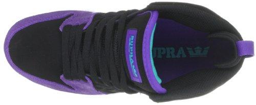Supra S1W S72006 Unisex - Erwachsene Sportive Sneakers Schwarz (BLACK / PURPLE - WHITE BLK)